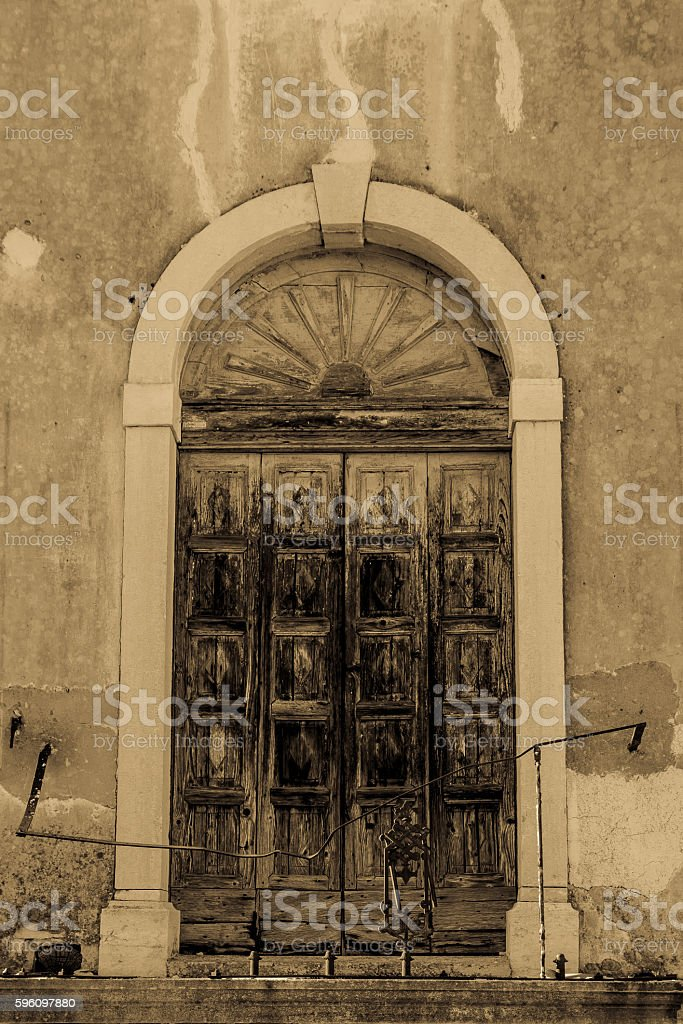 Doorway, Tar Croatia stock photo