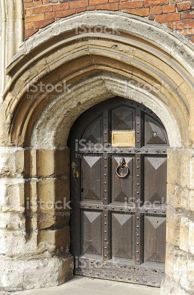 Doorway to Lambeth Palace. London. England stock photo