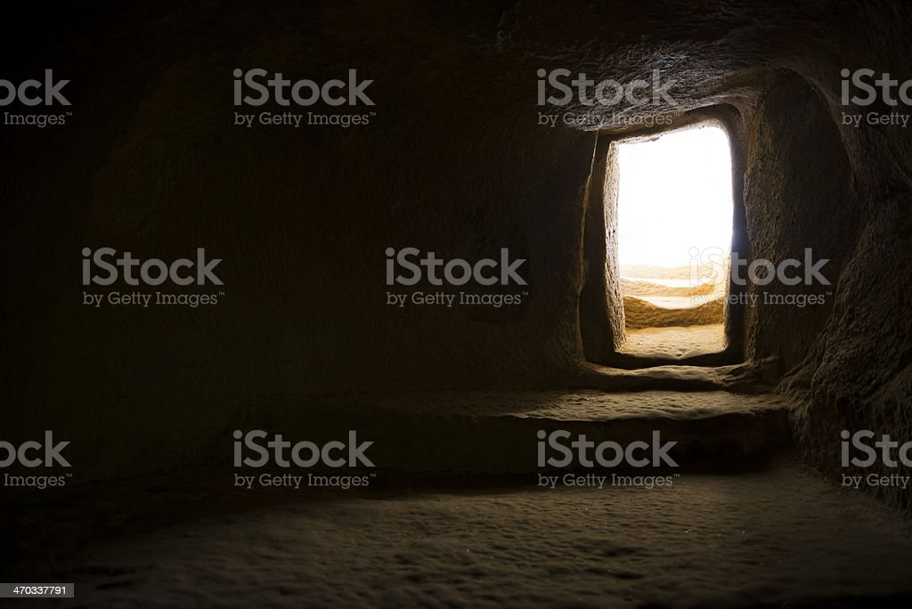 Doorway to light stock photo