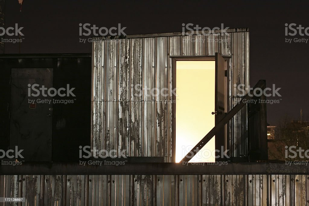 Doorway to the Roof royalty-free stock photo