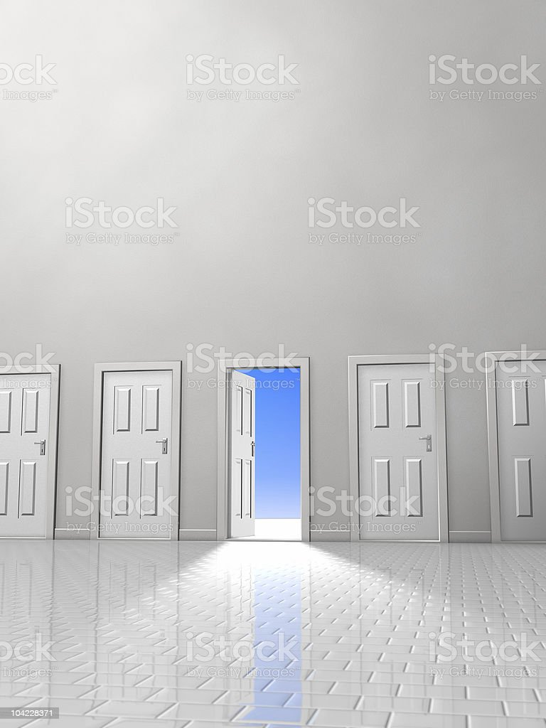 Doorway Two royalty-free stock photo