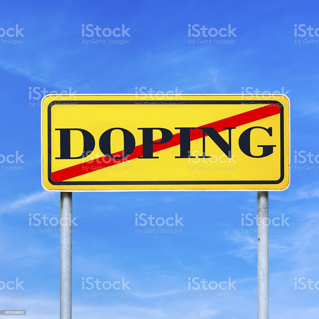 Doping forbidden royalty-free stock photo