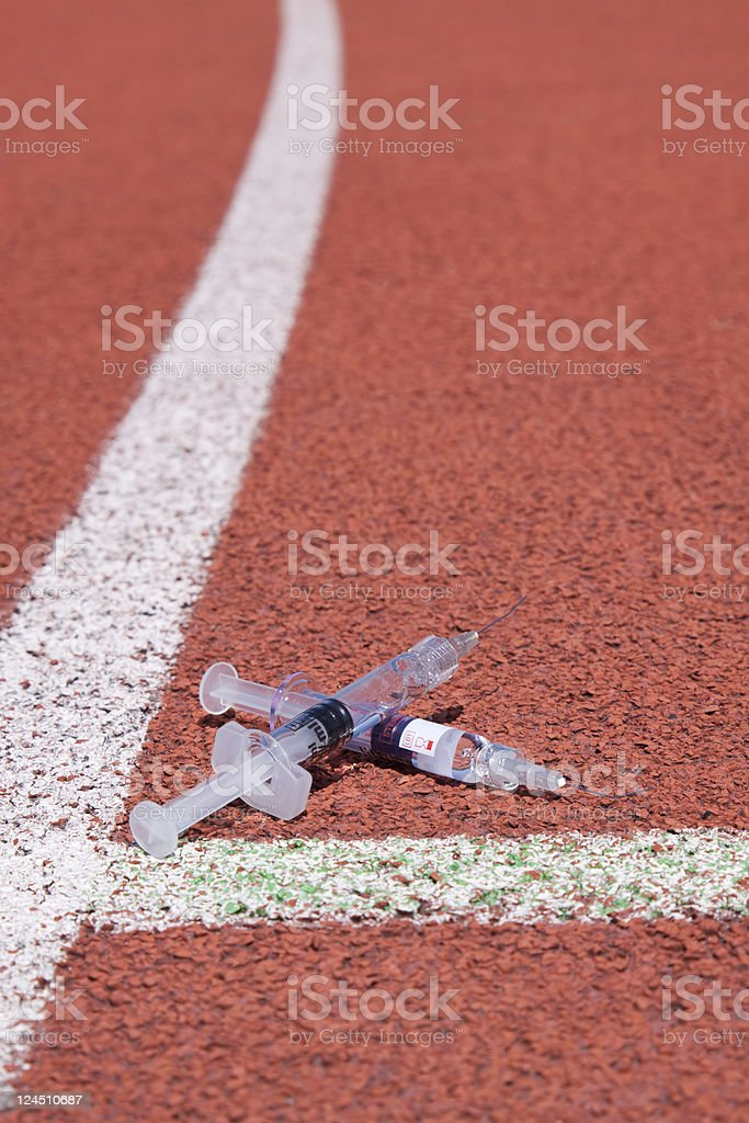 Doping in sports royalty-free stock photo