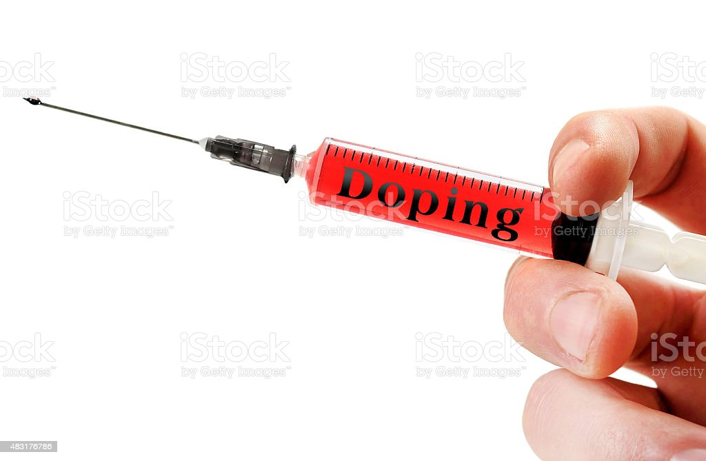 Doping word stock photo