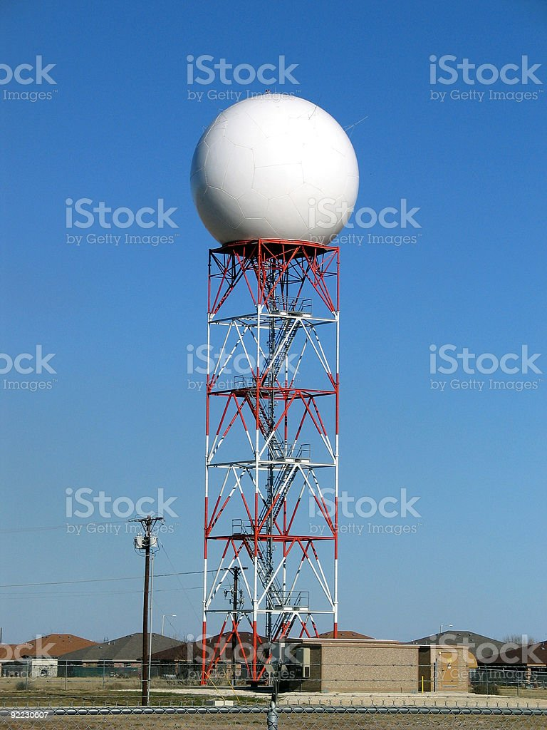 NEXRAD Doppler Radar Weather Station royalty-free stock photo