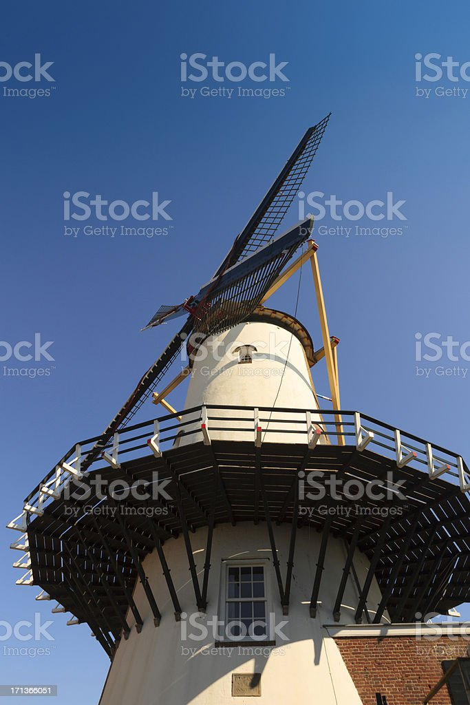 d'Orangemolen windmill in Willemstad stock photo
