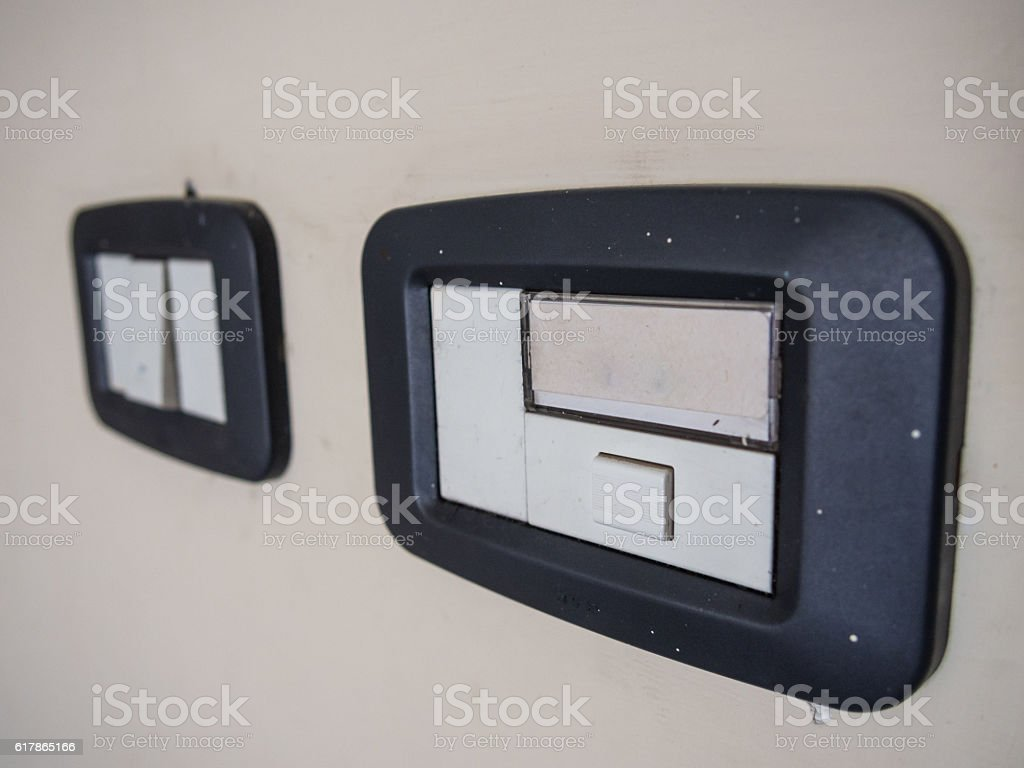 Dorbell with Label and separate switch stock photo