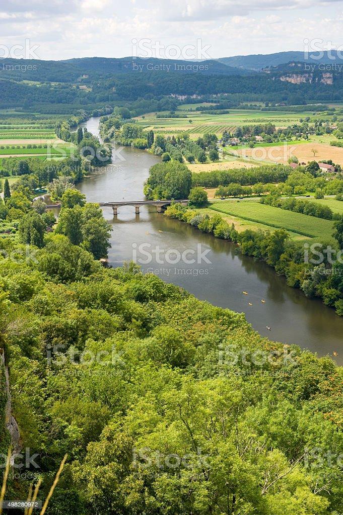 Dordogne near Domme stock photo