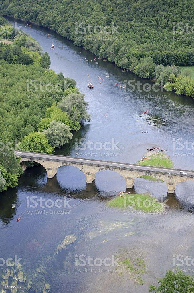 Dordogne river at Castelnaud stock photo