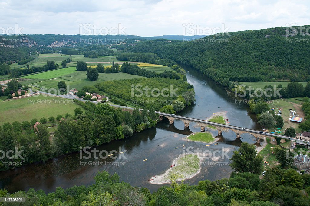 Dordogne River stock photo
