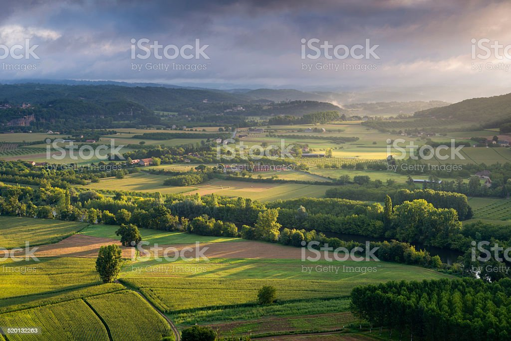 Dordogne valley stock photo