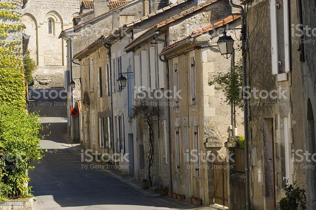 Dordogne village street royalty-free stock photo