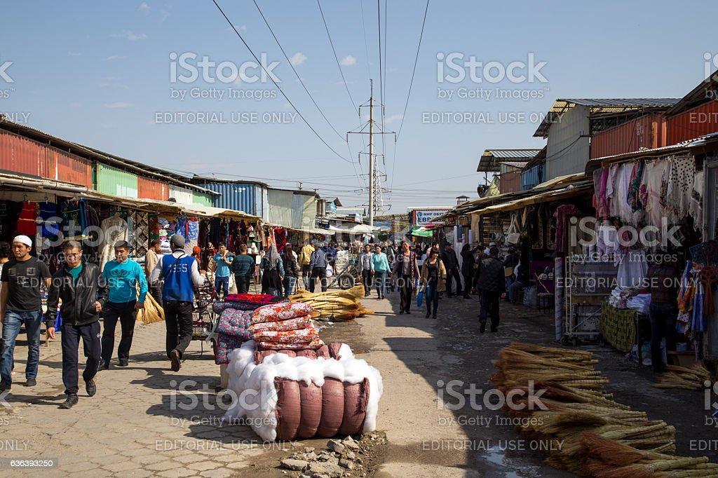 Dordoi Bazaar in Bishkek, Kyrgyzstan stock photo