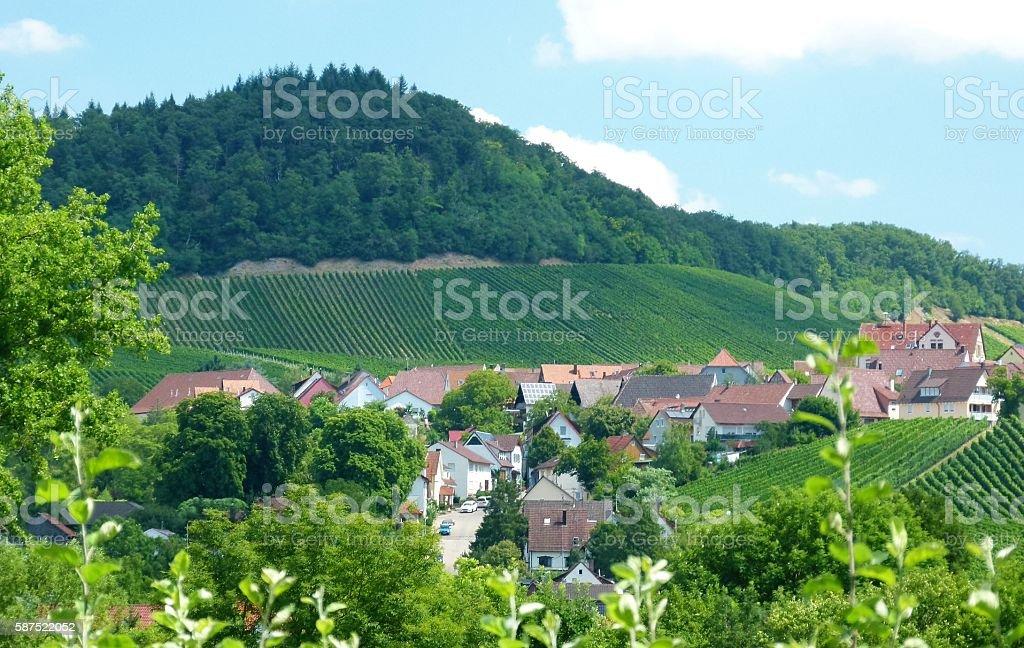 Dorf am Weinberg 2 stock photo