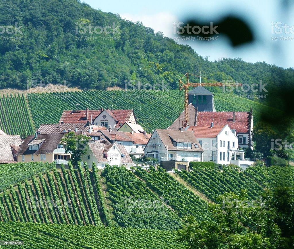 Dorf am Weinberg 4 stock photo