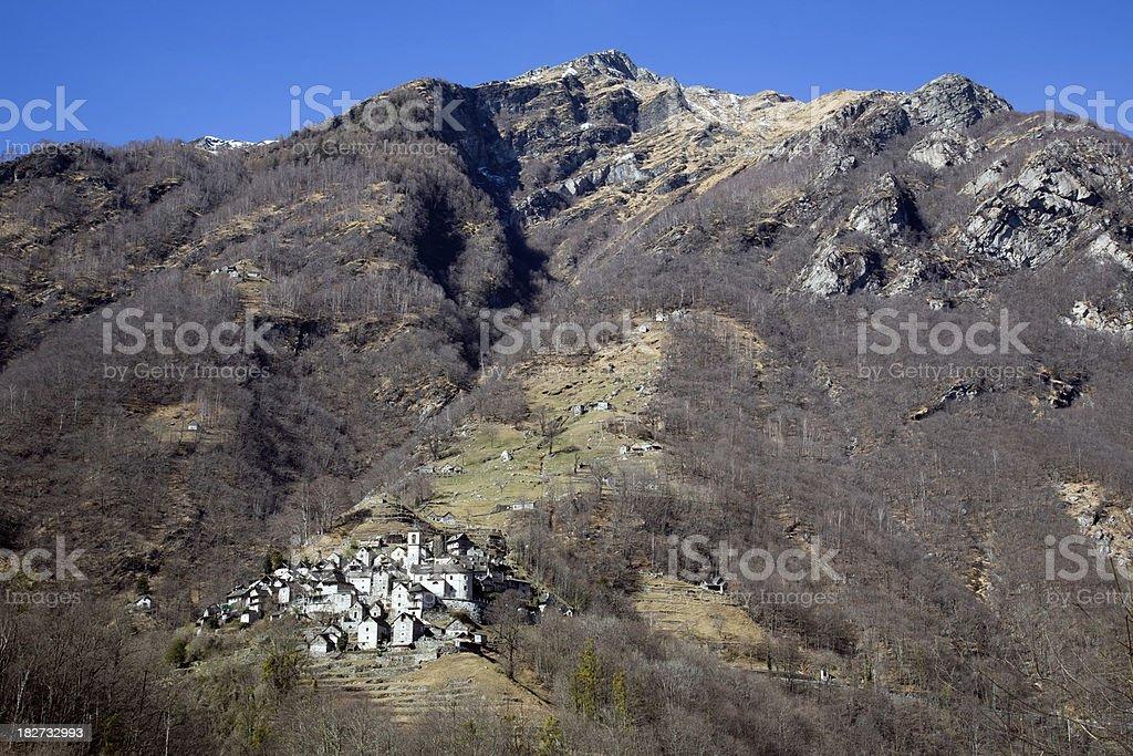 Dorf im Tessin stock photo