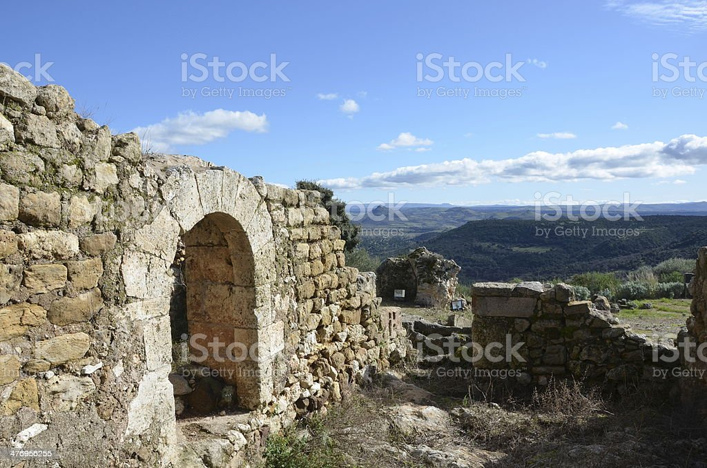 doria castle ruins stock photo