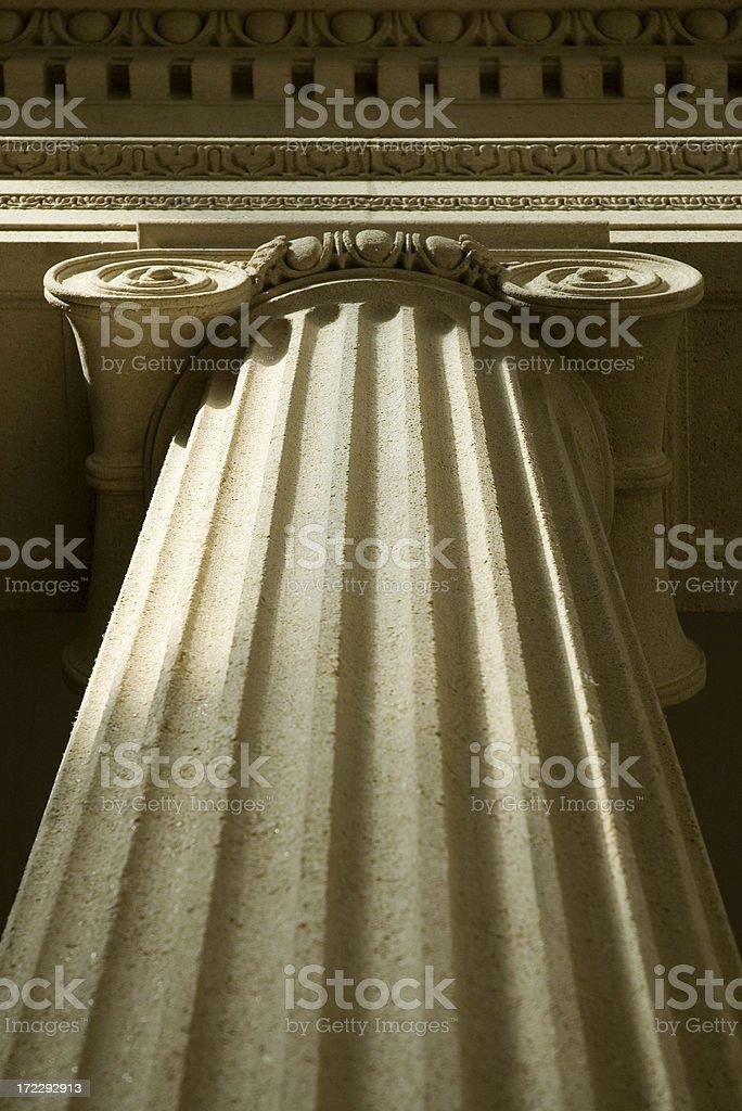 Doric column royalty-free stock photo