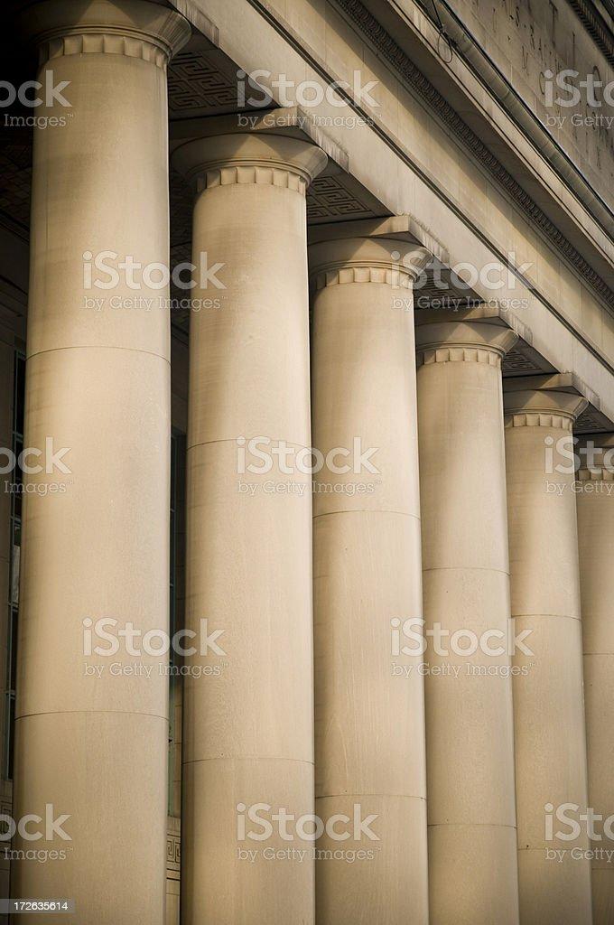 Doric columns stock photo