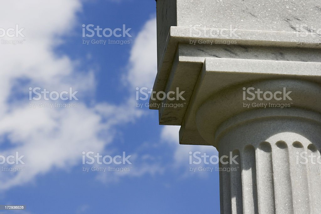 Doric Marble Column royalty-free stock photo