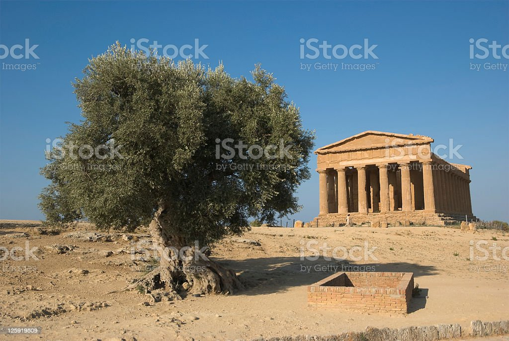 Doric temple in Agrigento royalty-free stock photo