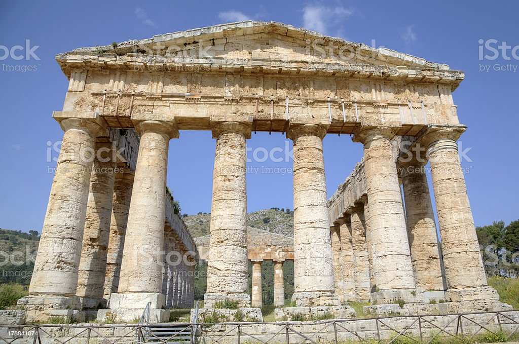 Doric Temple in Segesta royalty-free stock photo