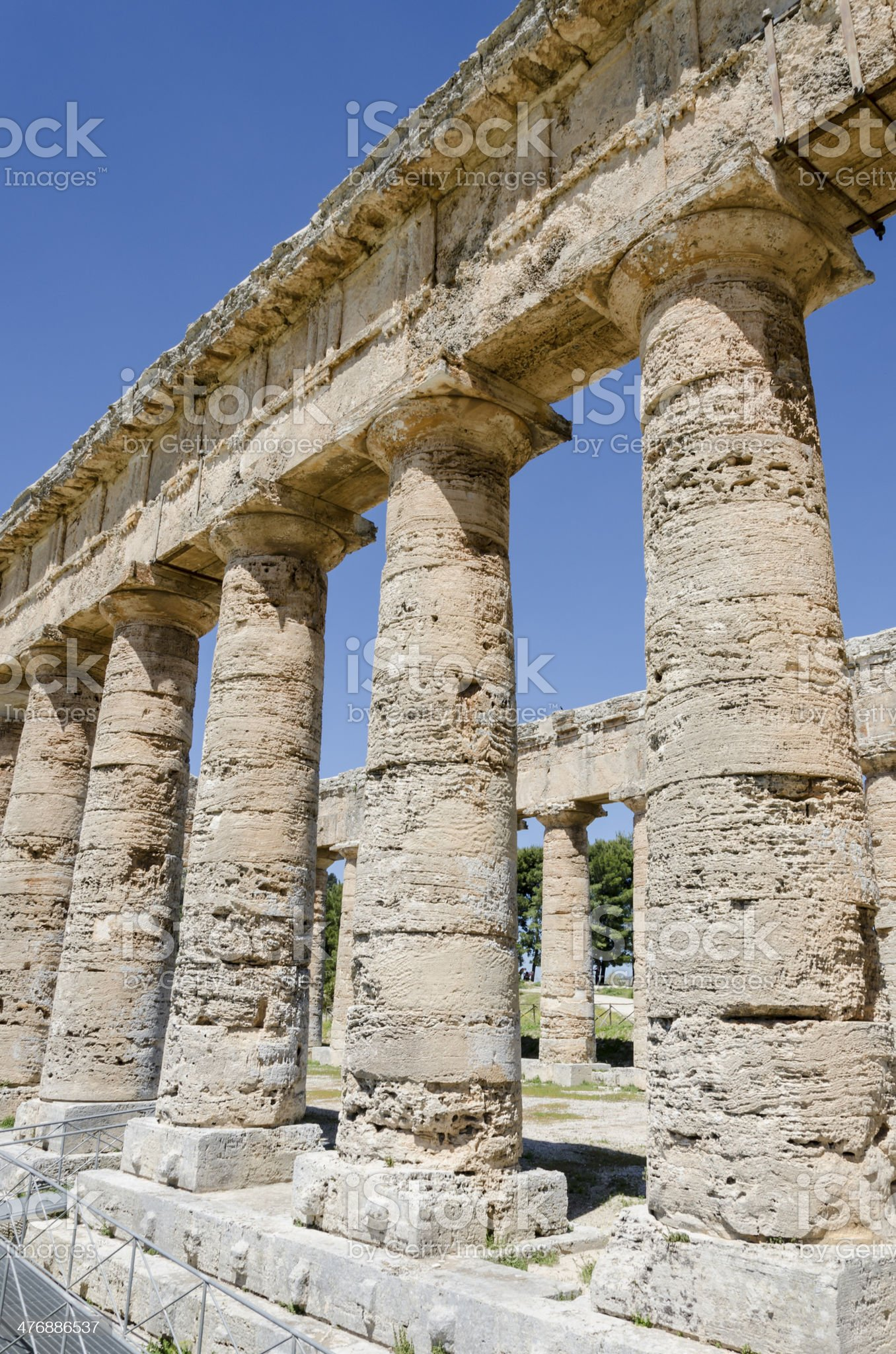 Doric Temple in Segesta, Sicily, Italy royalty-free stock photo