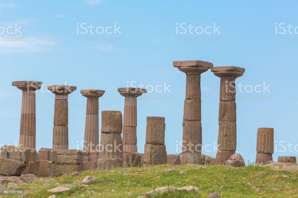 Doric temple of Athena stock photo