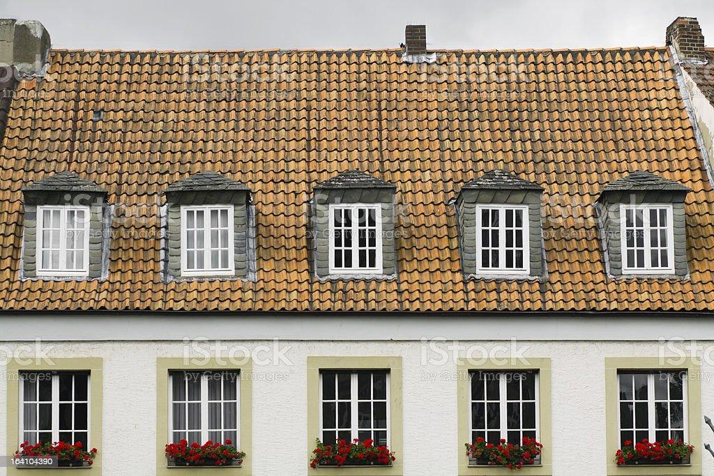 Dormer and windows stock photo