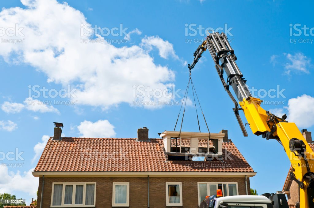 Dormer Construction stock photo