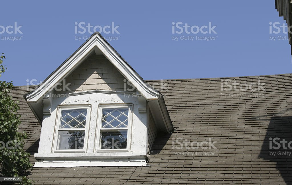 Dormer Window Repair royalty-free stock photo