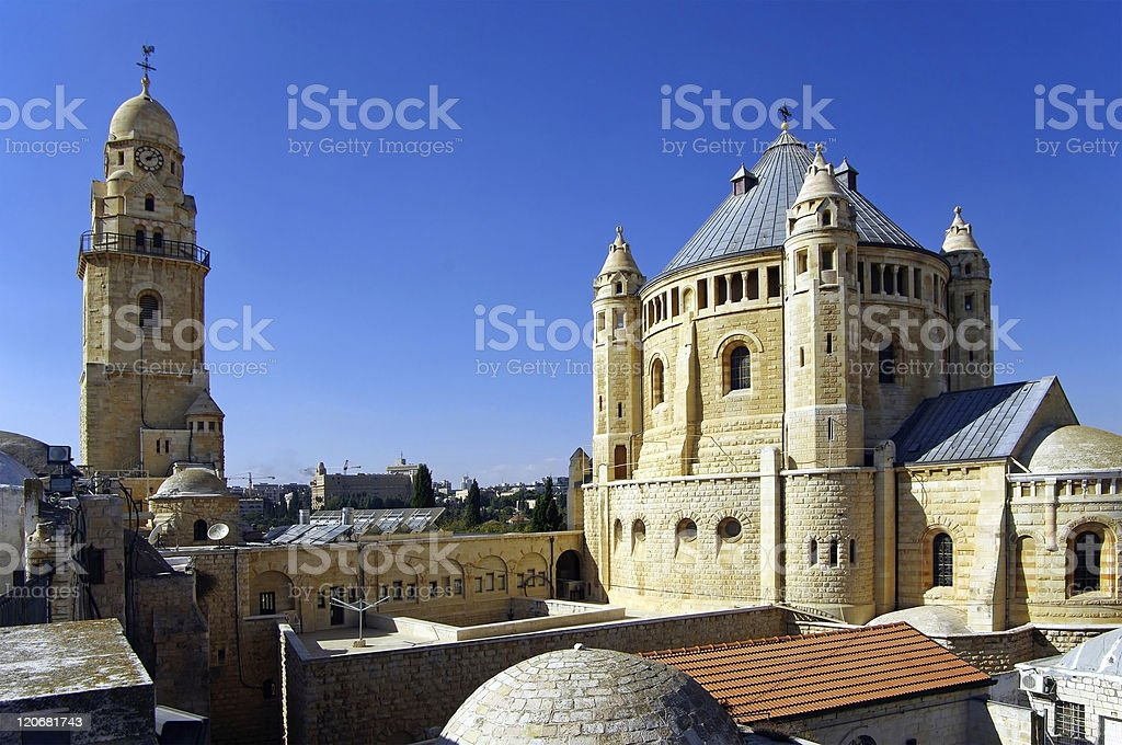 Dormition Abbey, Jerusalem, Israel. royalty-free stock photo