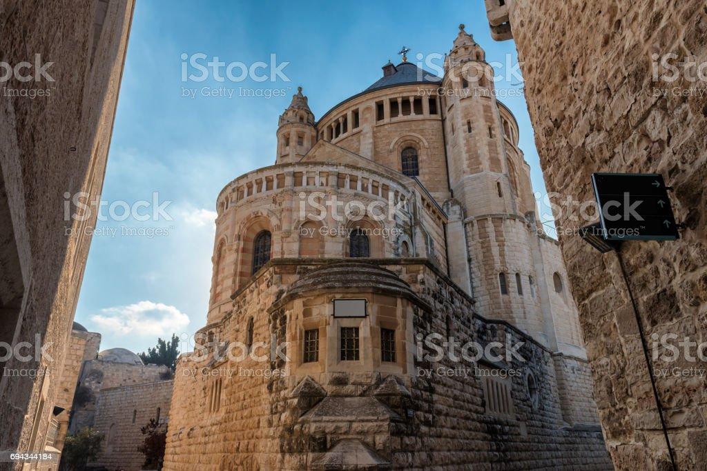 Dormition Abbey,   Jerusalem Old City stock photo
