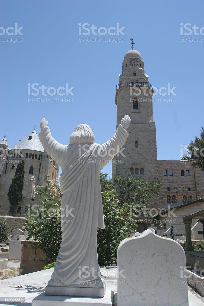 Dormition Abbey,Mt Zion stock photo