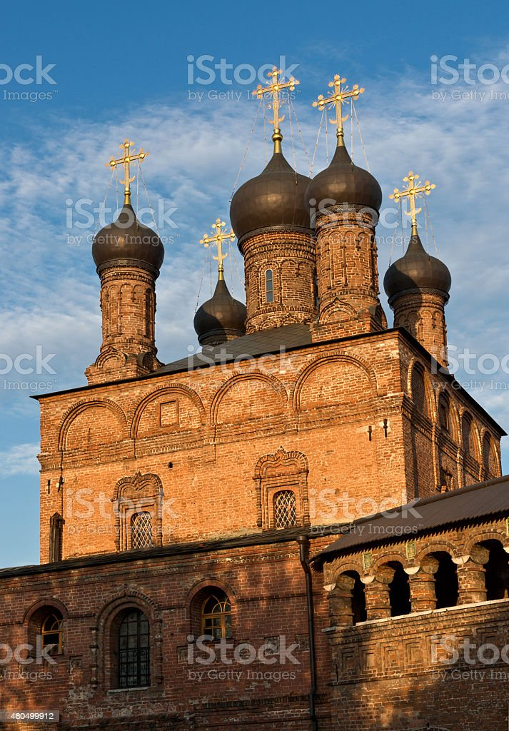 Dormition Cathedral in Moscow stock photo