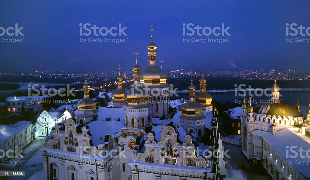 Dormition Cathedral  night view stock photo