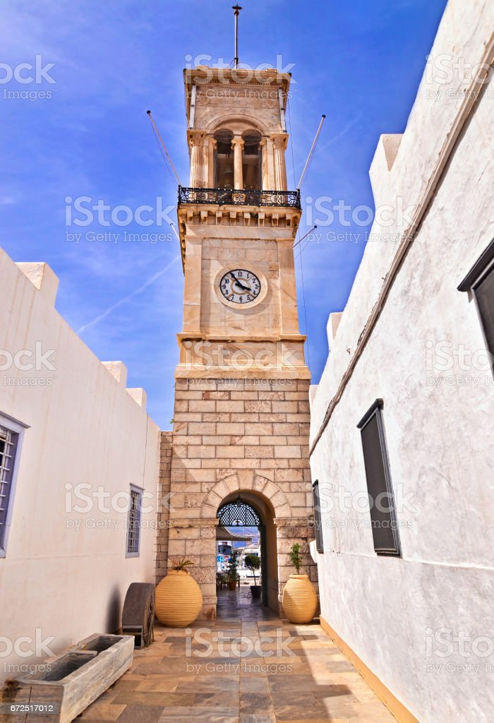 Dormition church Hydra Greece stock photo