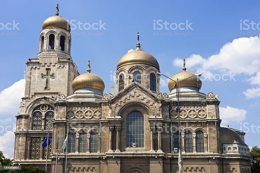Dormition of the Theotokos Cathedral In Varna, Bulgaria stock photo