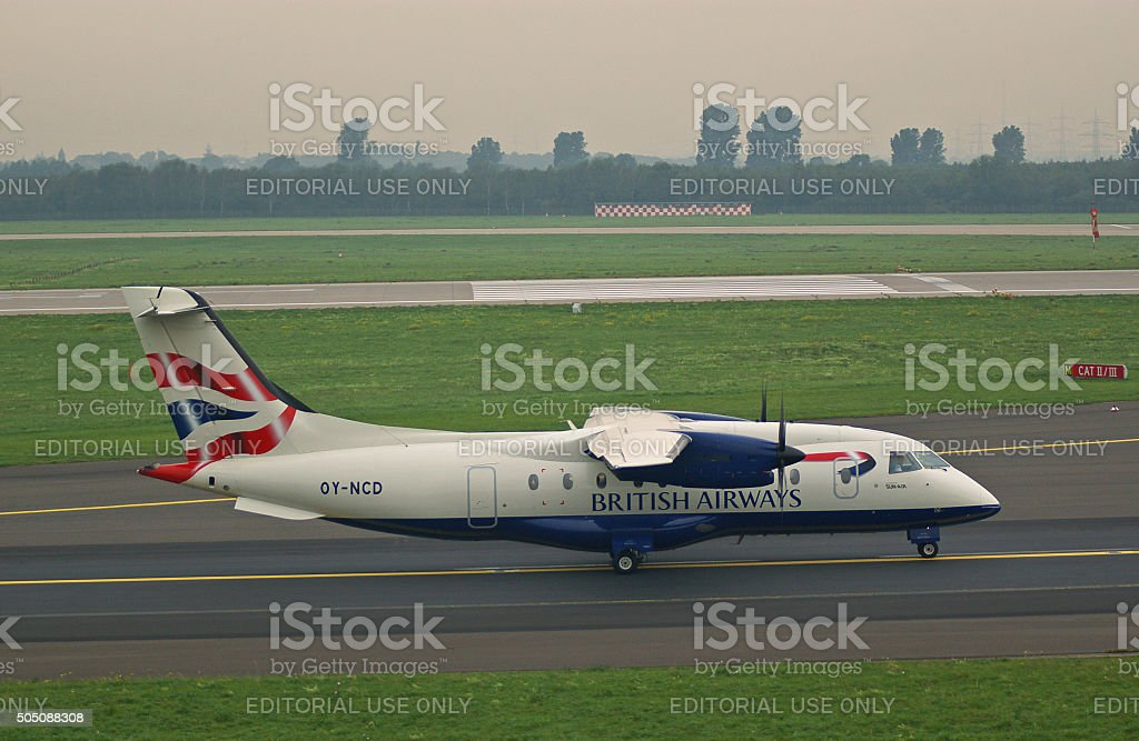 Dornier 328-100 of British Airways stock photo
