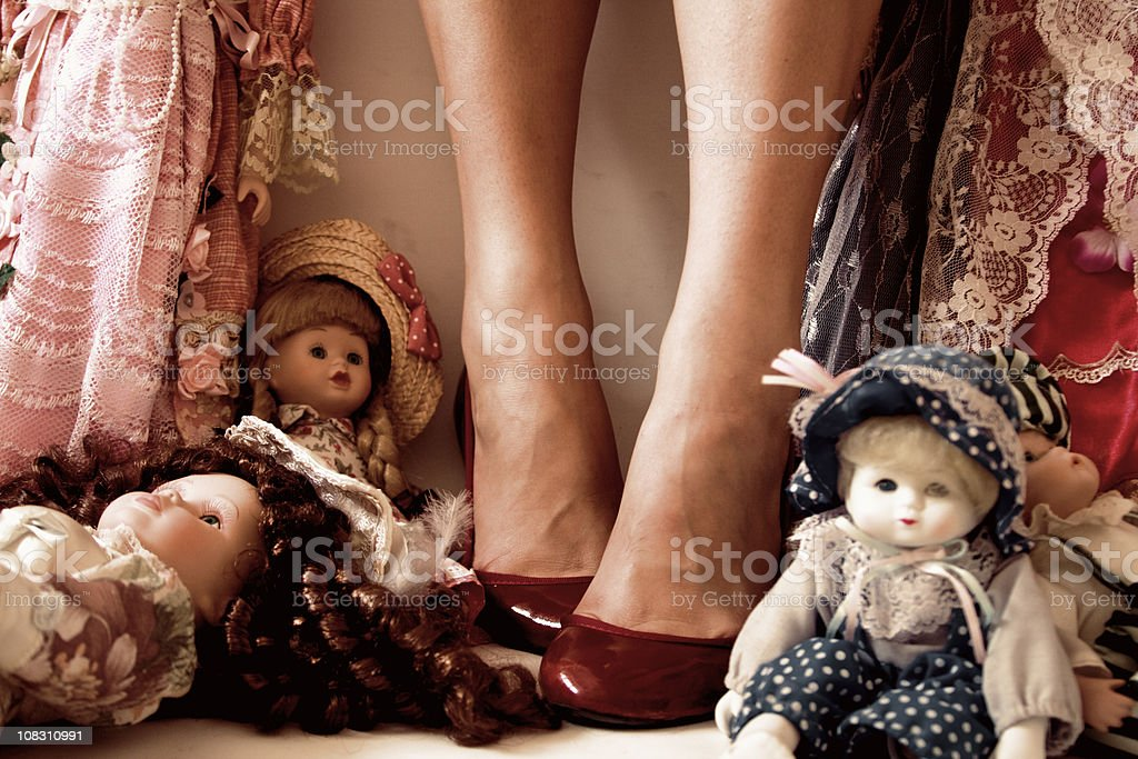 Dorothy in the land of dolls stock photo