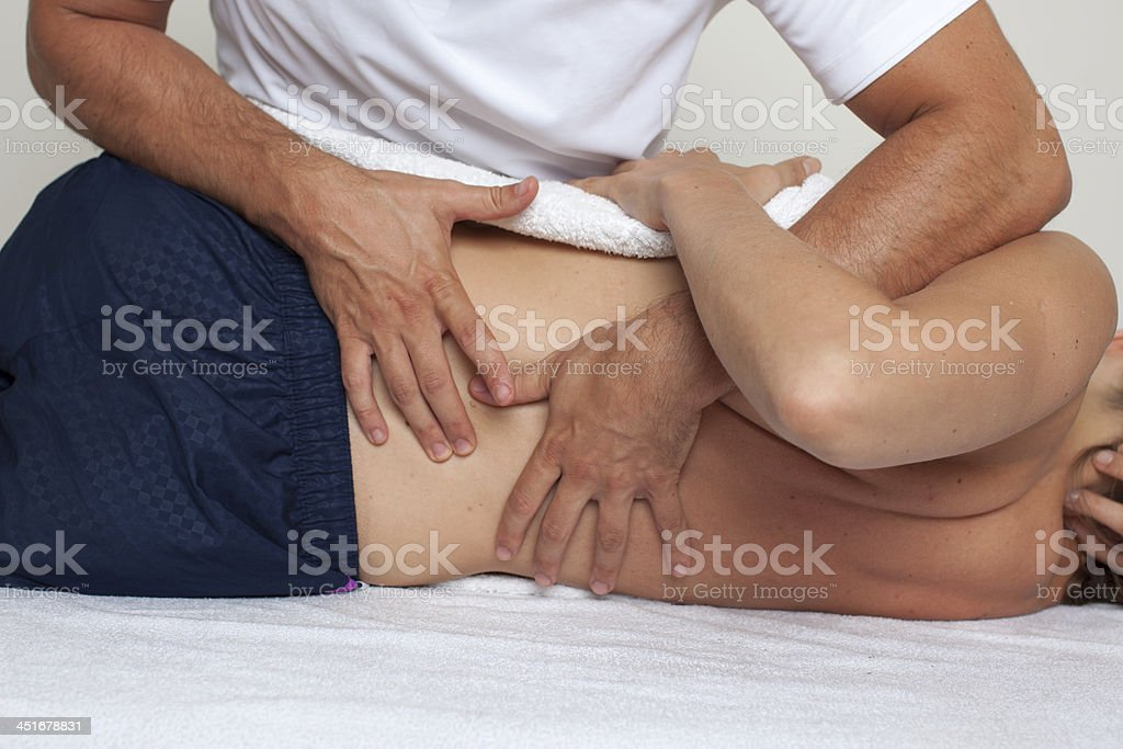 dorsal manipulation stock photo