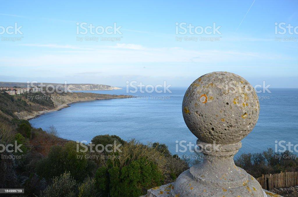 Dorset coast from Durlston stock photo