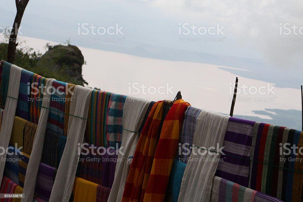Dorze ethiopian cloth stock photo