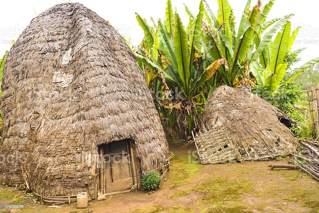 Dorze Hut, Ethiopia royalty-free stock photo