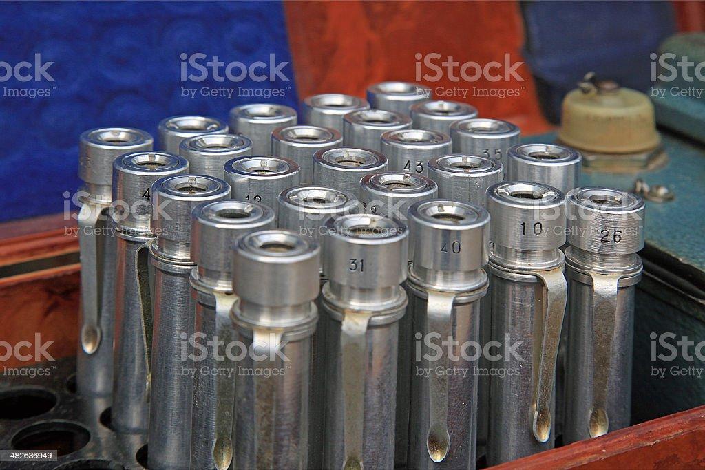 Dosimeters stock photo