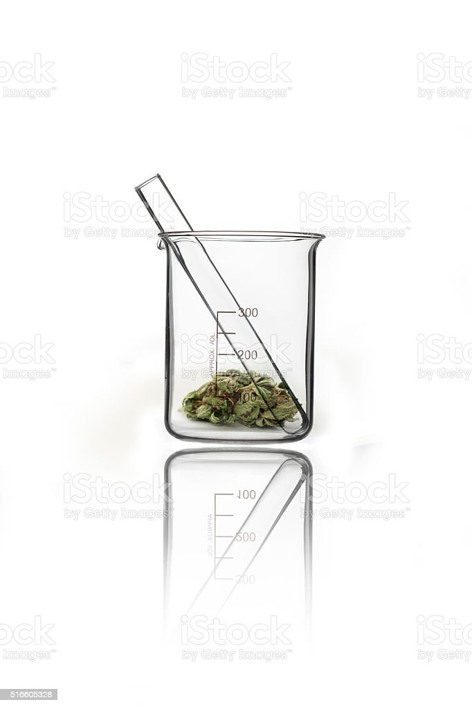 Dosing cannabis stock photo