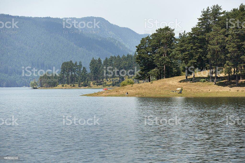 Dospat lake, Bulgaria stock photo