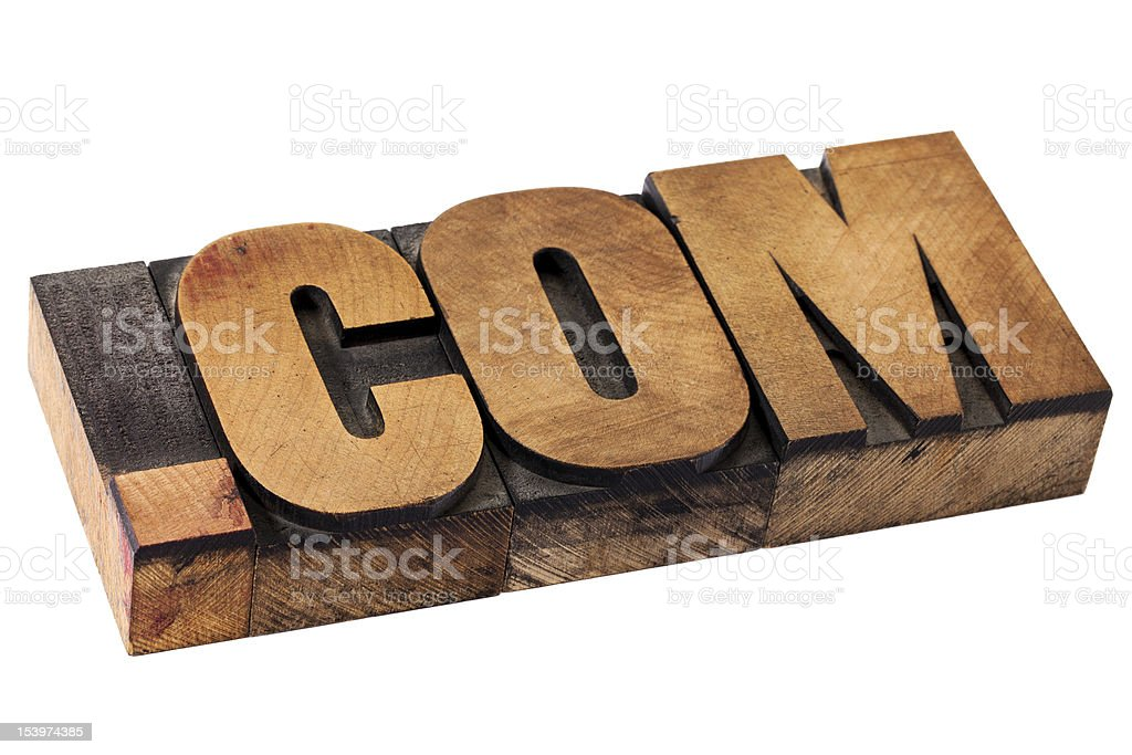 dot com internet domain royalty-free stock photo