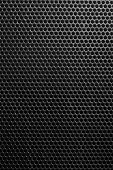 dot Fence of steel netting texture black background