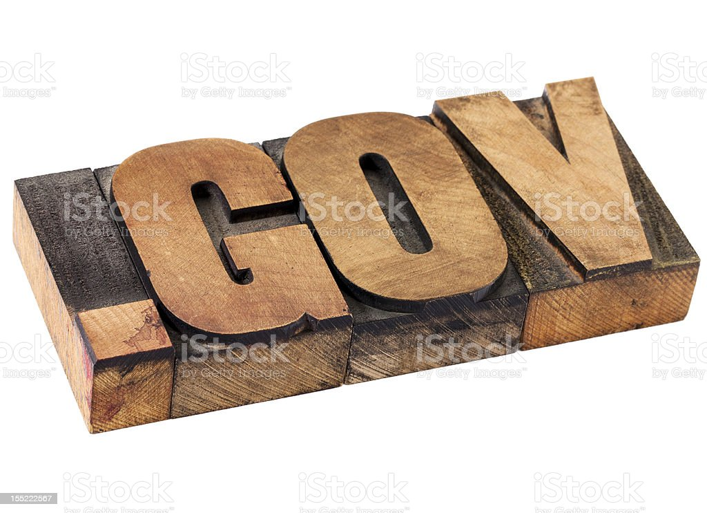 dot gov - government internet domain royalty-free stock photo